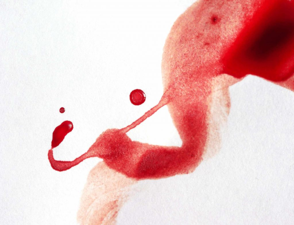 Dropping some period blood